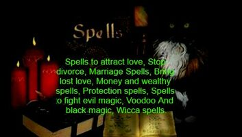 VOODOO LOVE SPELLS AND BLACK MAGIC